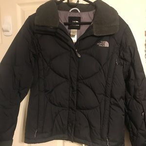 North face women's black down jacket size medium